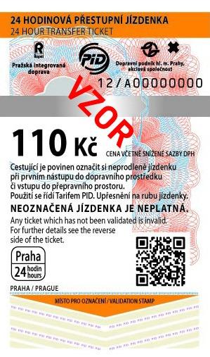MHD Jízdenka Praha 110Kč
