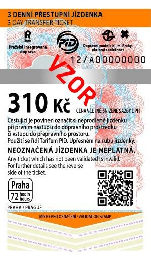 MHD Jízdenka Praha 310Kč