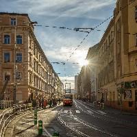 Lipanská tram stop in Žižkov, photo: PCT